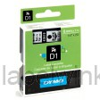 Dymo 43610 D1 Tape 6mm x 7m zwart op transparant