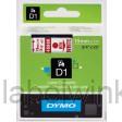 Dymo 45805 D1 Tape 19mm x 7m rood op wit