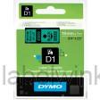 Dymo 45809 D1 Tape 19mm x 7m zwart op groen