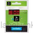 Dymo 53717 D1 Tape 24mm x 7m zwart op rood