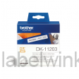 DK-11203 Map label 17 mm x 87 mm - wit