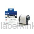 DK-22205 Doorlopende papier tape 62 mm x 30,48m - wit - zelfklevend