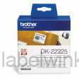 DK-22225 Doorlopend papier tape 38mm x 30,48m - wit - zelfklevend