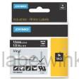 Dymo RHINO 1805435 vinyl wit op zwart 12mm