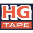 HGe-231v5 - 12mm x 8m zwart op witte tape gelamineerd high grade