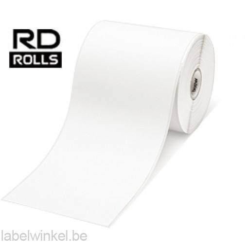 RD-S01E2 Doorlopende papier tape 102mm x 44,3m - verwijderbaar - wit