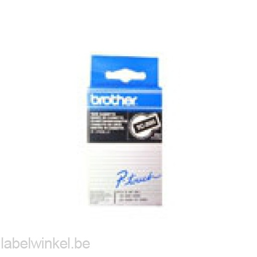 Brother TC-395 Tape, Wit op zwart, 9mm.