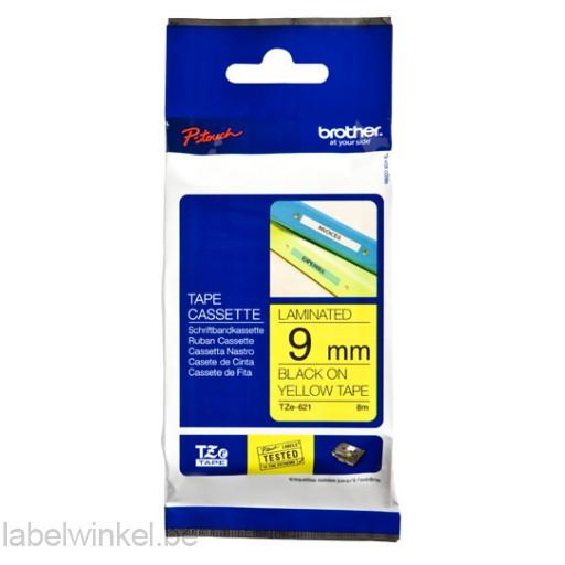 TZe-621 9mm Zwart op Geel