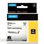 Dymo 1734821 RHINO Zelf Laminerende tape 24mm zwart op wit