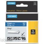 Dymo RHINO 1805243 vinyl wit op blauw 12mm