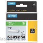 Dymo RHINO 1805426 vinyl wit op groen 24mm