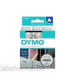 Dymo 45013 D1 Tape 12mm x 7m zwart op wit