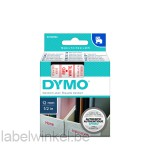 Dymo 45015 D1 Tape 12mm x 7m rood op wit