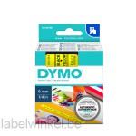 Dymo 43618 D1 Tape 6mm x 7m zwart op geel