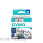 Dymo 53713 D1 Tape 24mm x 7m zwart op wit