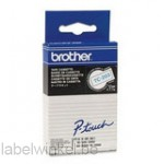 Brother TC-203 Tape Blauw op wit, 12mm.