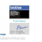 Brother TC-293 Tape Blauw op wit, 9mm.