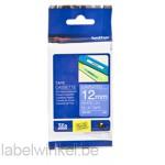 TZe-535 12mm Wit op Hard Blauw