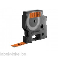 Dymo 1978367 duurzame D1 tape zwart op oranje 12mm