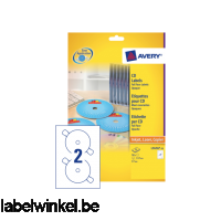 L7676-25 etiket avery cd l7676-25 laser inkjet opaak