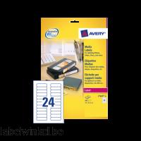 L7665-25 etiket avery data l7665-25 72x21.2mm 600st
