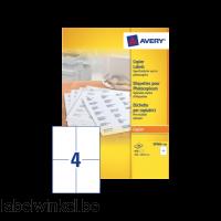 DP004-100 etiket avery dp004-100 105x149mm 400st