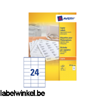 DP246-100 etiket avery dp246-100 70x36mm 2400st