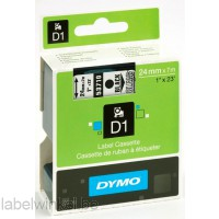 Dymo 53710 D1 Tape 24mm x 7m zwart op transparant