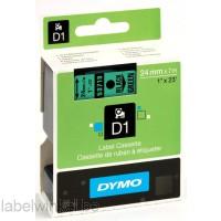 Dymo 53719 D1 Tape 24mm x 7m zwart op groen