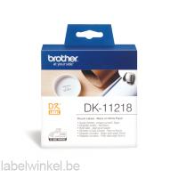 DK-11218 24 mm Ø rond etiket - wit