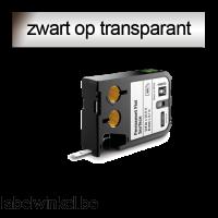 DYMO 1868738 XTL Permanent vlakke ondergrond 6mm zwart op transparant