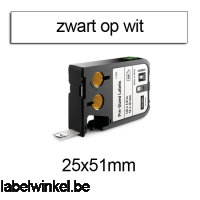 DYMO 1868702 XTL Label 25x51mm zwart op wit