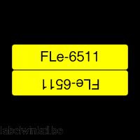 Brother FLe-6511 kabelvlag zwart op geel