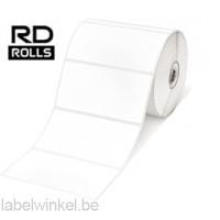 RD-S03E1 Gestanst papier etiket 50 x 102mm - wit - verwijderbaar
