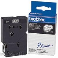 Brother TC-101 Tape Zwart op helder, 12 mm