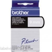 Brother TC-195 Tape, Wit op helder, 9mm.