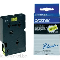 TC-601 Brother tape zwart op geel 12mm breed