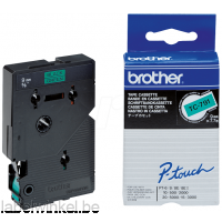TC-791 Brother lettertape zwart op groen 12mm breed