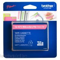 TZe-MQP35 12mm Wit op berry rose mat gelamineerd